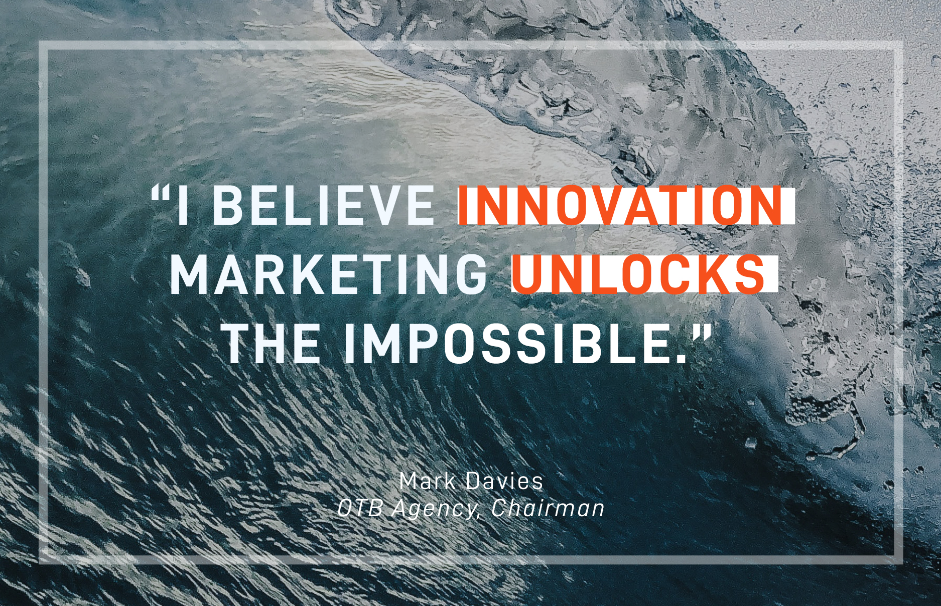 Is 'Innovation Marketing' uncontested market space?