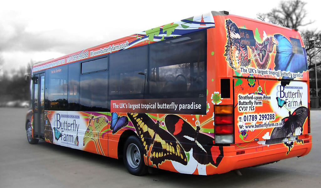 Local advertising - bus back